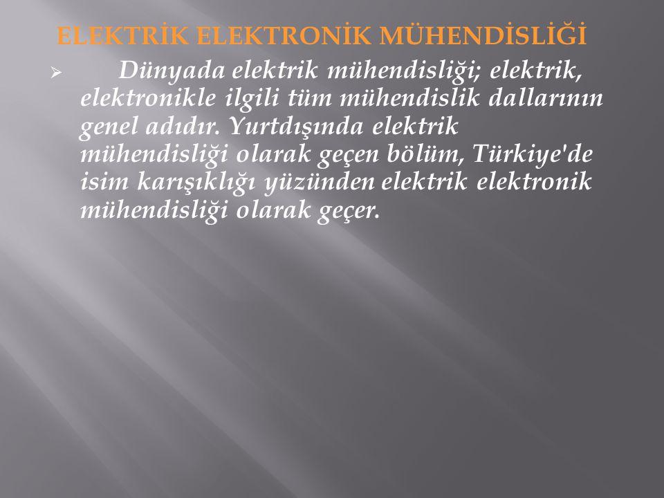  Günlük hayatımız, elektrik ve elektronik mühendisleri tarafından geliştirilen teknik yeniliklere bağlı olarak hızla değişmektedir.
