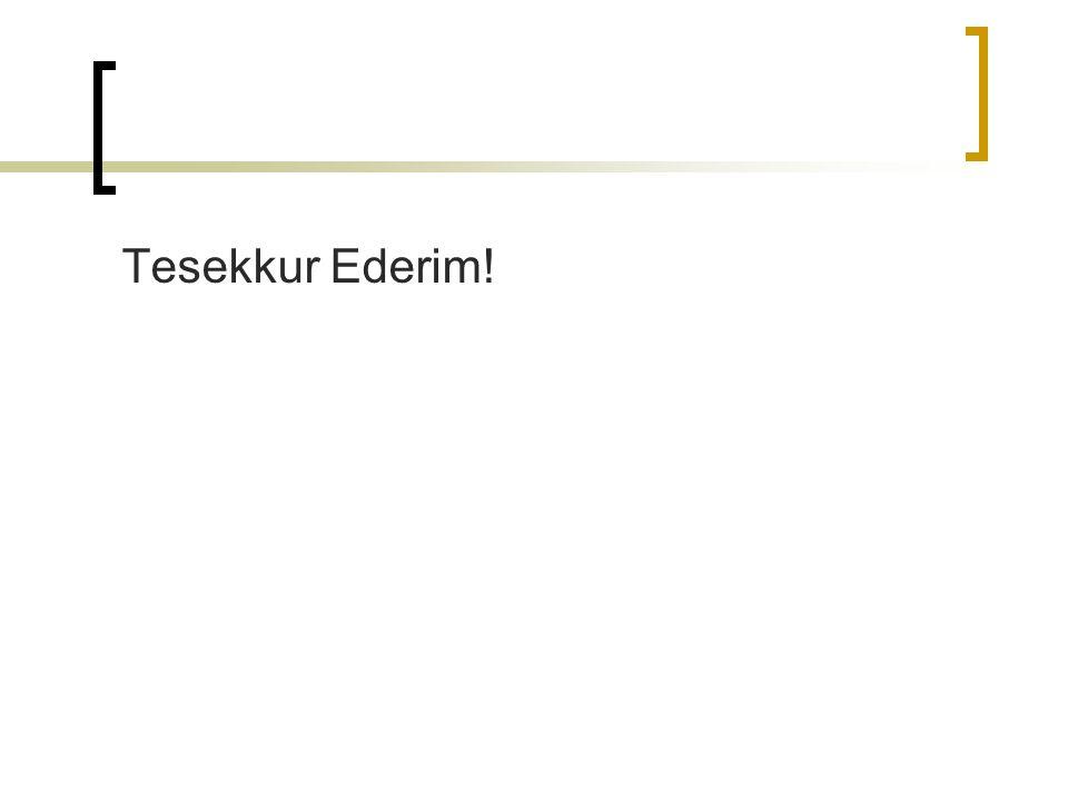 Tesekkur Ederim!