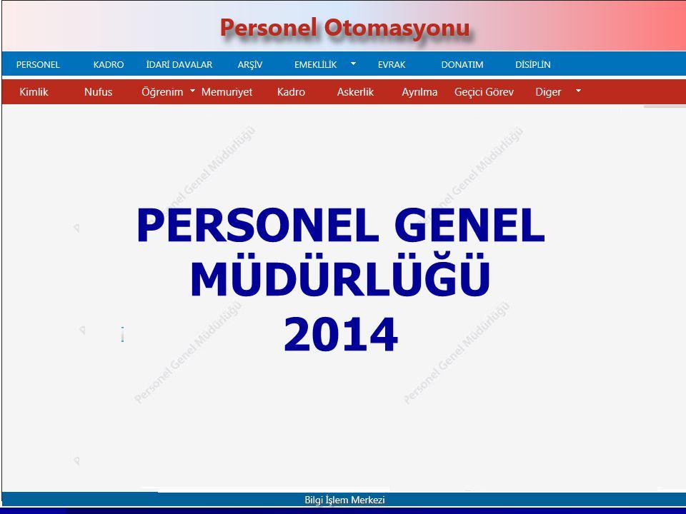 PERSONEL GENEL MÜDÜRLÜĞÜ 2014