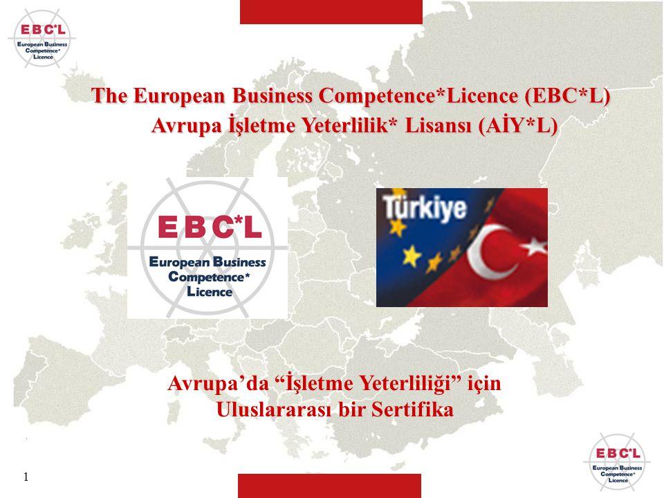 """1 Avrupa'da """"İşletme Yeterliliği"""" için Uluslararası bir Sertifika The European Business Competence*Licence (EBC*L) Avrupa İşletme Yeterlilik* Lisansı"""