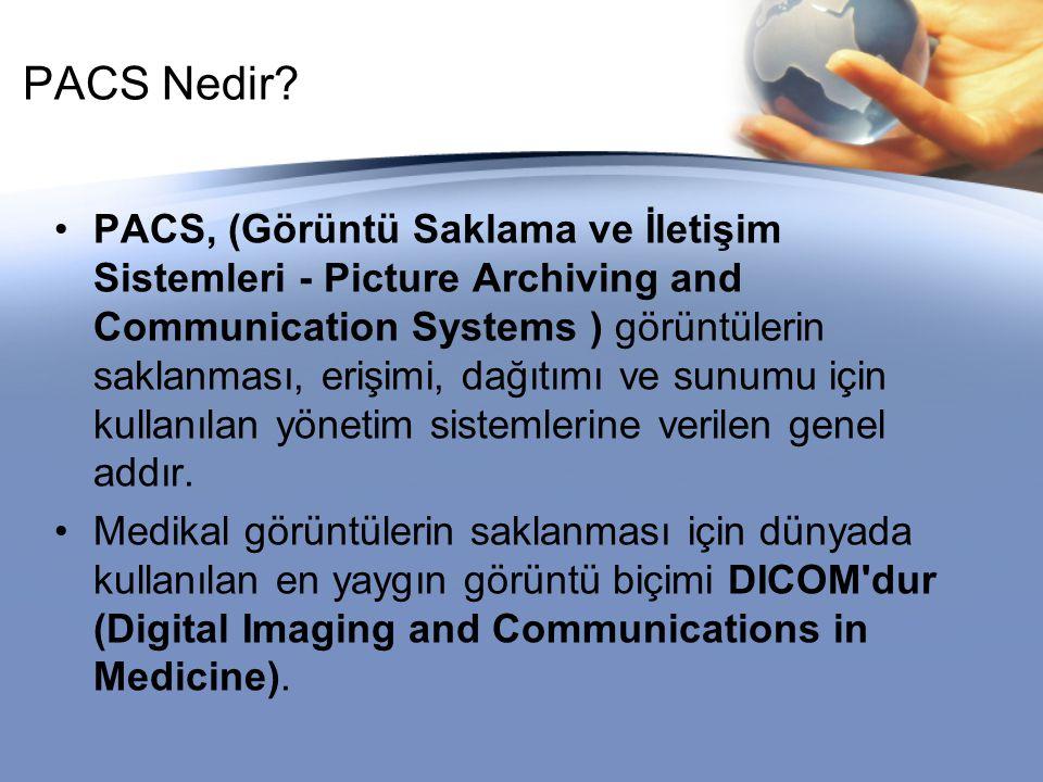 Olgunluk Seviyesi 1 (PACS Altyapısı) Bu seviye temel ve yapısal olmayan PACS kurulumlarını tanımlar.