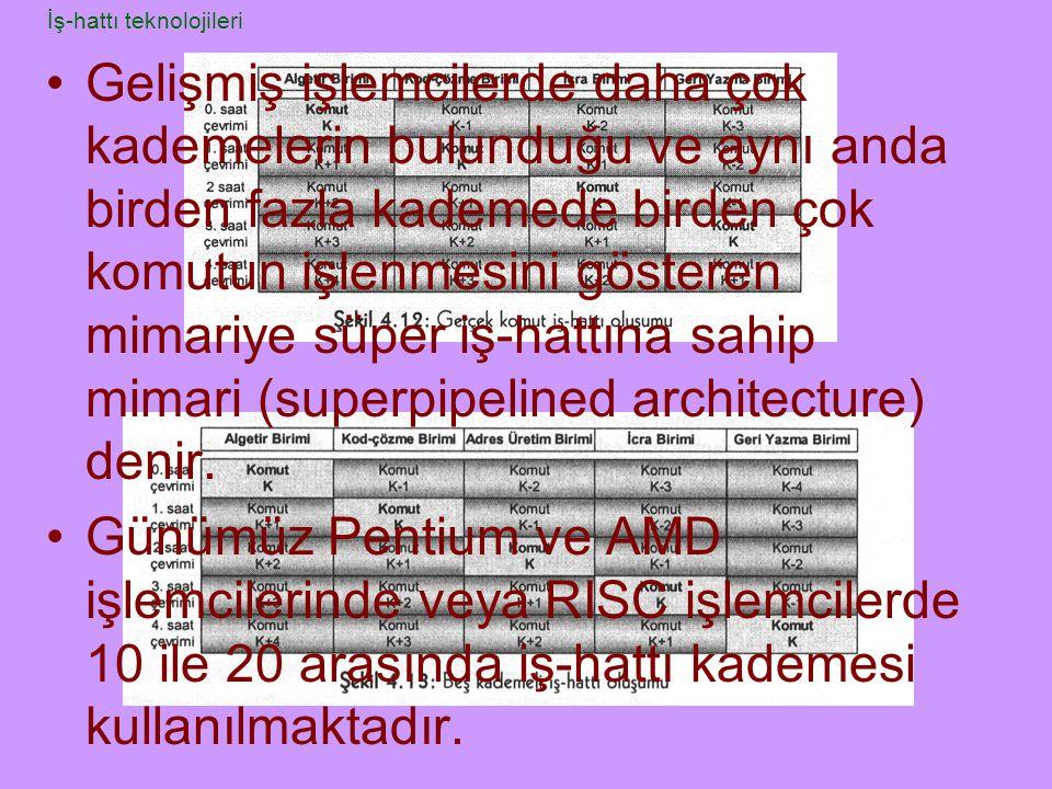Gelişmiş işlemcilerde daha çok kademelerin bulunduğu ve aynı anda birden fazla kademede birden çok komutun işlenmesini gösteren mimariye süper iş-hatt