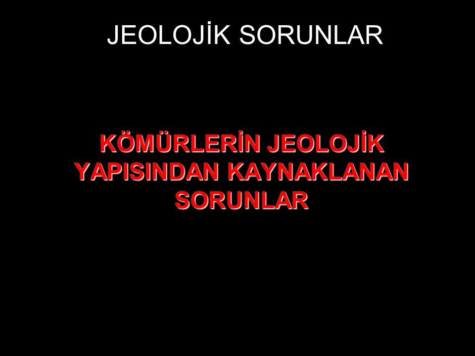 JEOLOJİK SORUNLAR KÖMÜRLERİN JEOLOJİK YAPISINDAN KAYNAKLANAN SORUNLAR