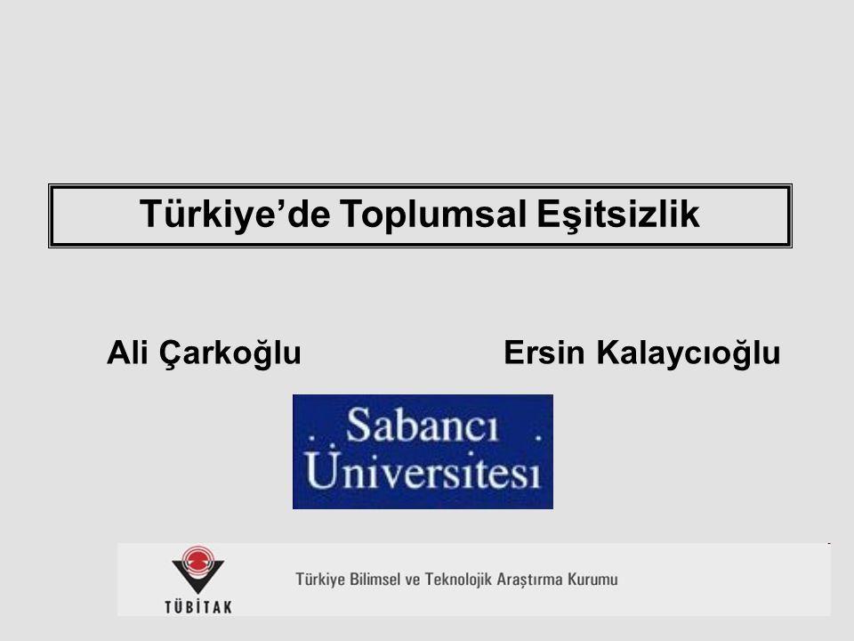 1 Ali Çarkoğlu Türkiye'de Toplumsal Eşitsizlik Ersin Kalaycıoğlu
