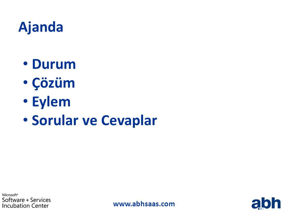 www.abhsaas.com Ajanda Durum Çözüm Eylem Sorular ve Cevaplar