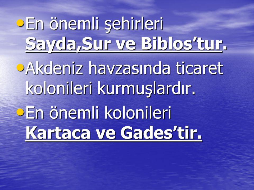 En önemli şehirleri Sayda,Sur ve Biblos'tur.En önemli şehirleri Sayda,Sur ve Biblos'tur.