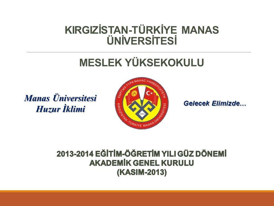 Akademik Genel Kurul Toplantısı yapıldı Rektörümüz Prof.
