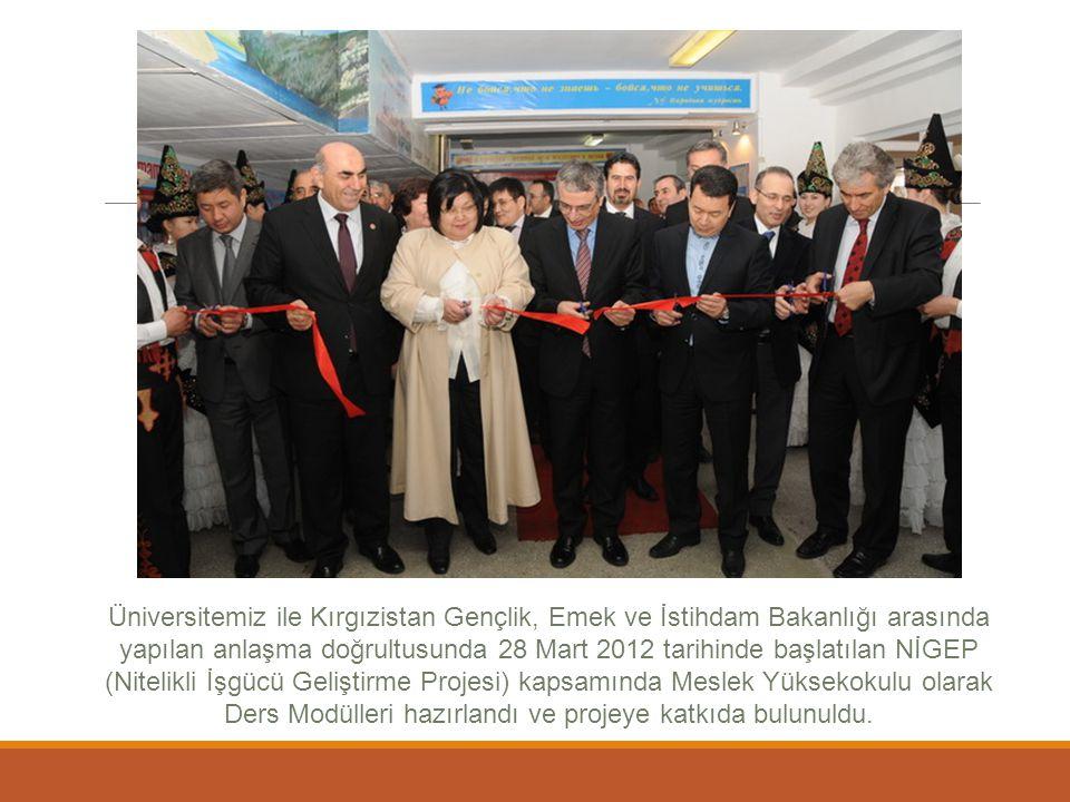 Üniversitemiz ile Kırgızistan Gençlik, Emek ve İstihdam Bakanlığı arasında yapılan anlaşma doğrultusunda 28 Mart 2012 tarihinde başlatılan NİGEP (Nite