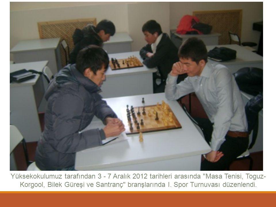 Yüksekokulumuz tarafından 3 - 7 Aralık 2012 tarihleri arasında