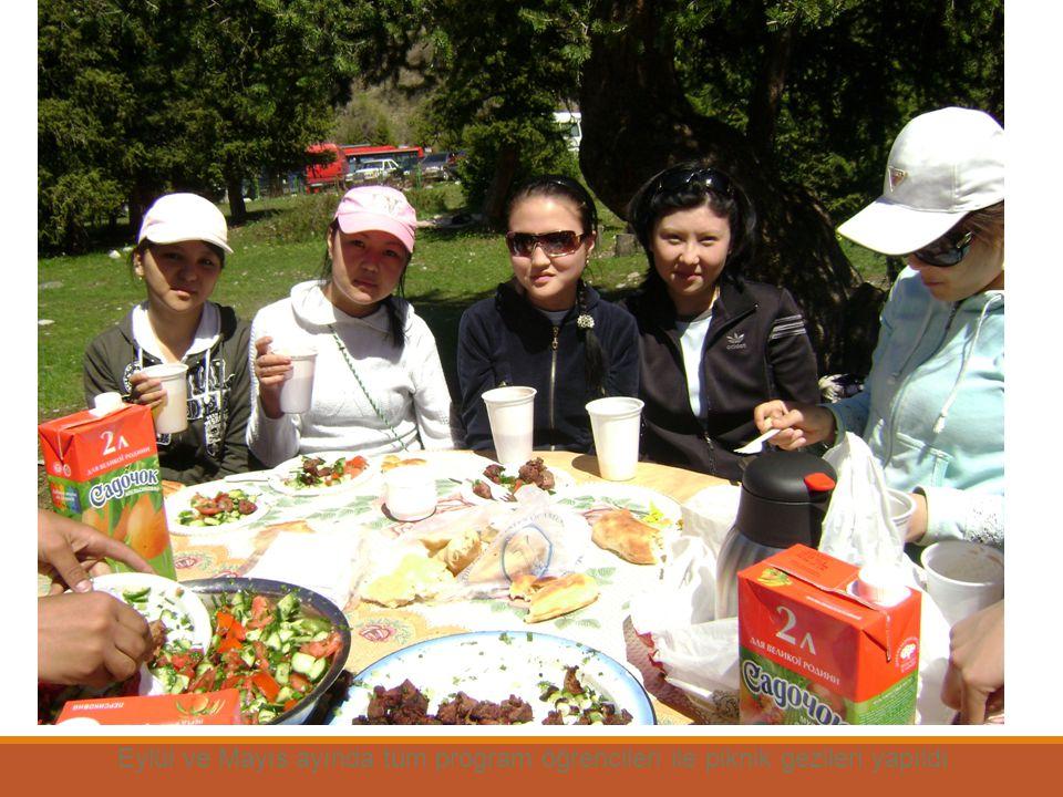 Eylül ve Mayıs ayında tüm program öğrencileri ile piknik gezileri yapıldı.