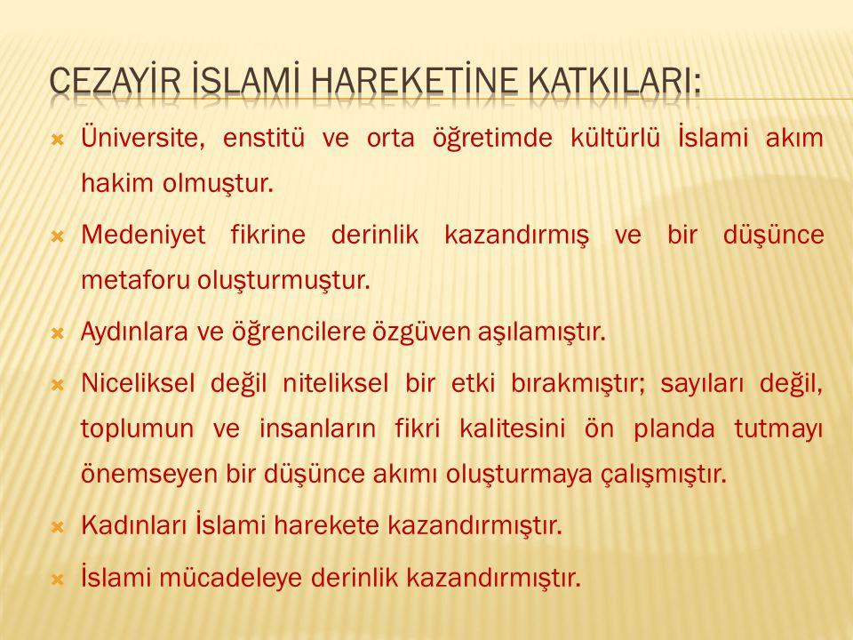  Müslümanlar içinde bulundukları tüm zorluklara katlanmalı.Fakat davadan vazgeçmemelidir.  İslam felsefesinin yeniden ihya edilmesi bir gereklilikti
