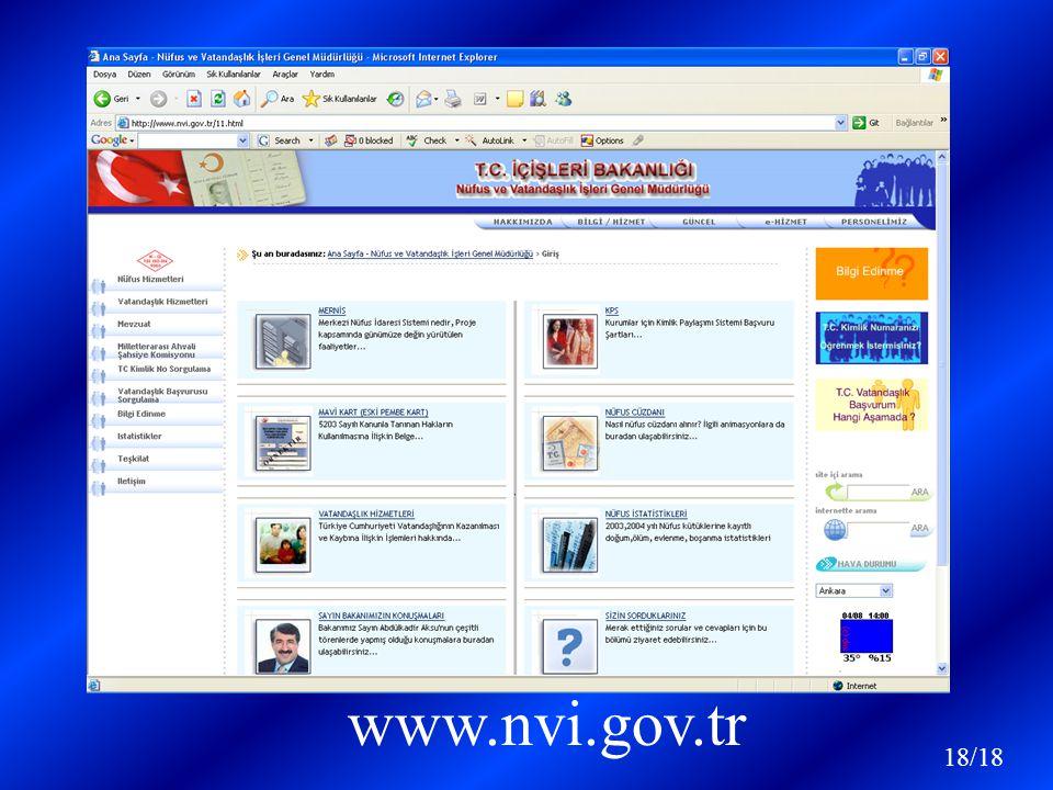 www.nvi.gov.tr 18/18
