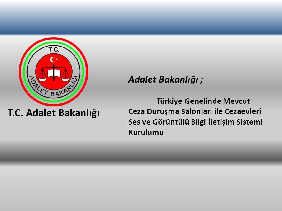 T.C. Adalet Bakanlığı Adalet Bakanlığı ; Türkiye Genelinde Mevcut Ceza Duruşma Salonları ile Cezaevleri Ses ve Görüntülü Bilgi İletişim Sistemi Kurulu