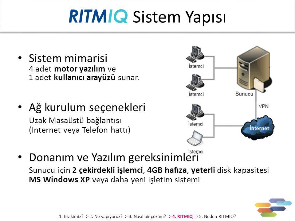 Sistem mimarisi 4 adet motor yazılım ve 1 adet kullanıcı arayüzü sunar.