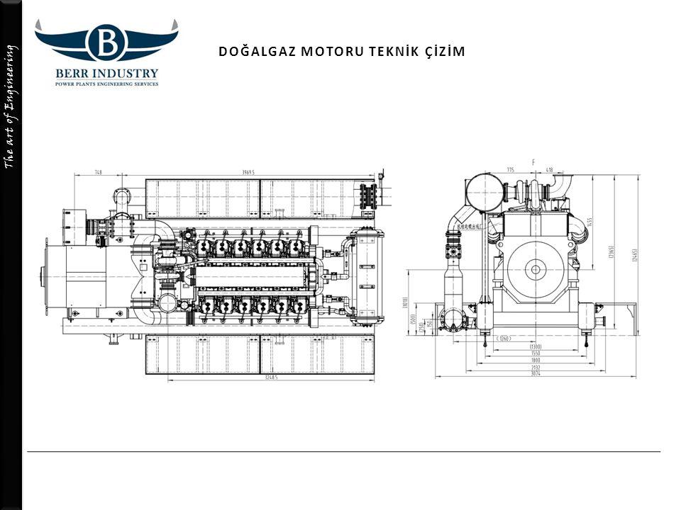 The art of Engineering DOĞALGAZ MOTORU TEKNİK ÇİZİM