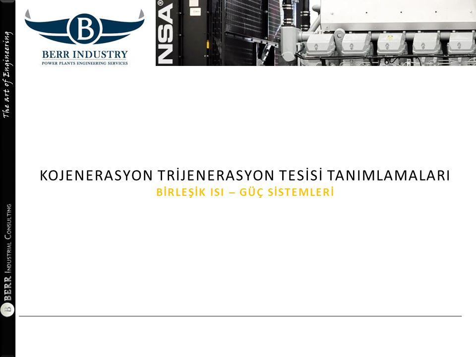 The art of Engineering KOJENERASYON ÇALIŞMA & VERİM HESAP TABLOSU 26.06.2014 Descriptions: ……………… AVM - Turkei : Project Designed by BERR ındustry A - Ekipman ÖzellikleriMotor No - 1Motor No - 2TOPLAMBirim Makine MarkasıMitsubishi 18KU30GSI Makine TipiMitsubishi Doğal Gaz Makine AdetiMiktar 1 Motor GücüKWe 5.750 KW Motor Gücü ( KVA )KVA 7.1880 Motor GücüHP 7.8200 VoltajkV 11/6,6 RPM750 Atık Isı Geri KazanımKW 1.6310 KW Egzoz Buhar Üretimi ( 8 Bar )Kg/h 2.5900 Kg/h ÖN FİZİBİLİTE