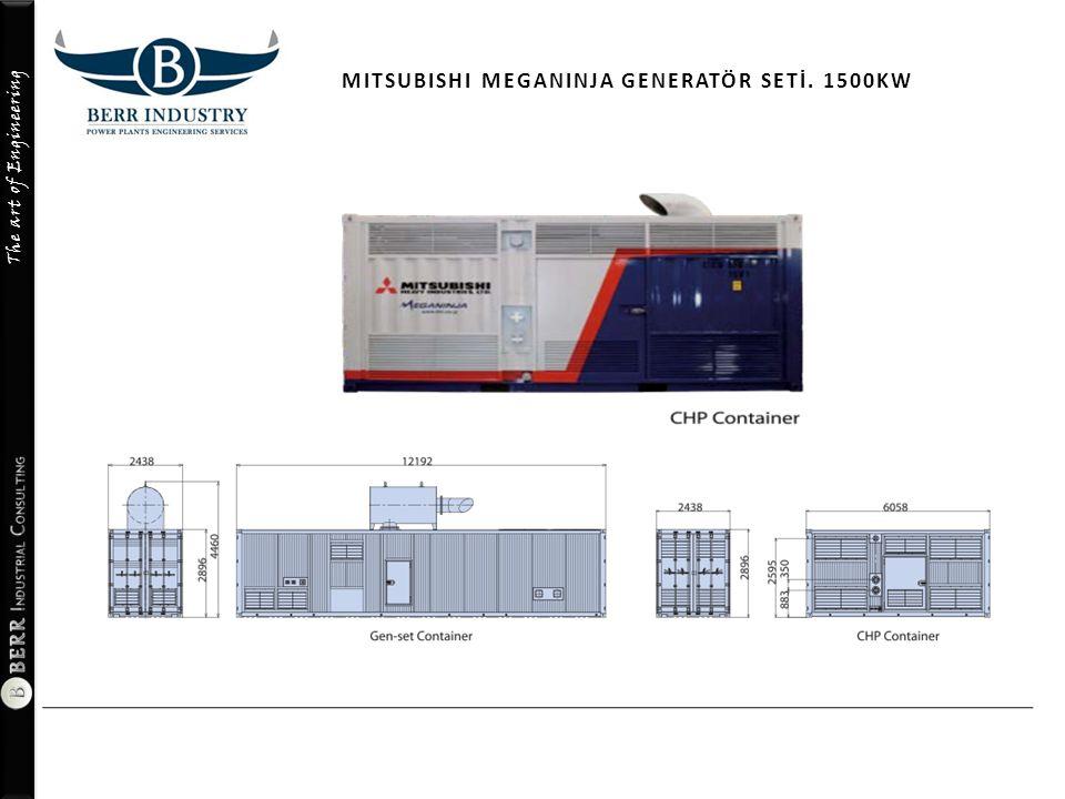 The art of Engineering MITSUBISHI MEGANINJA GENERATÖR SETİ. 1500KW