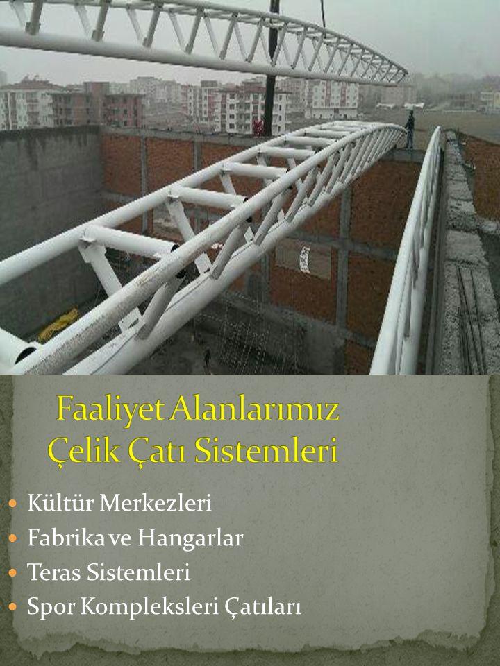 Kültür Merkezleri Fabrika ve Hangarlar Teras Sistemleri Spor Kompleksleri Çatıları