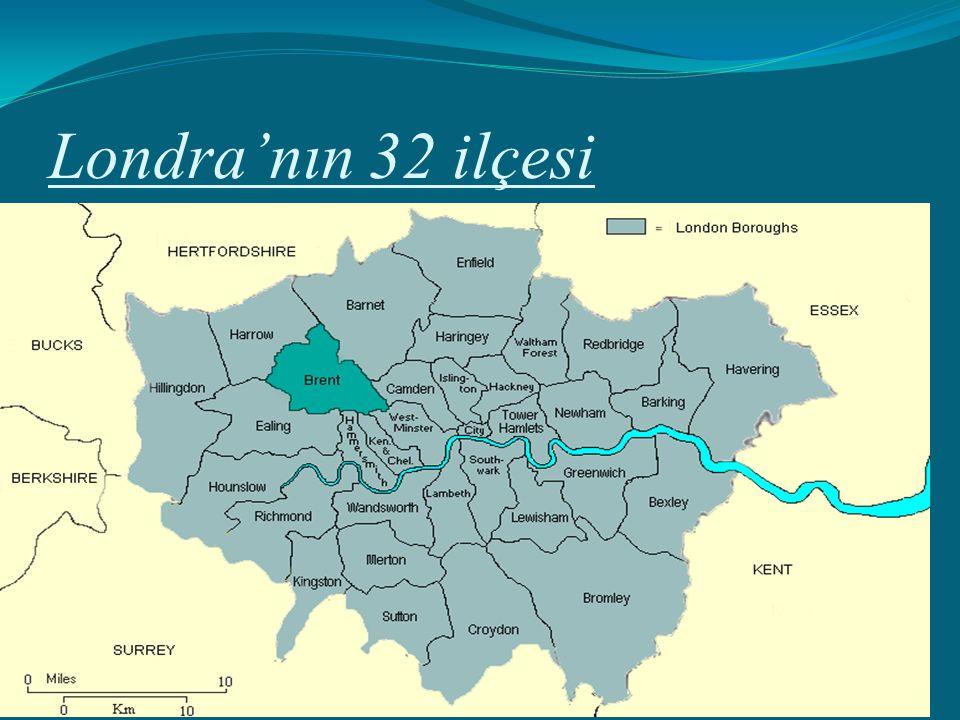 Londra'nın 32 ilçesi