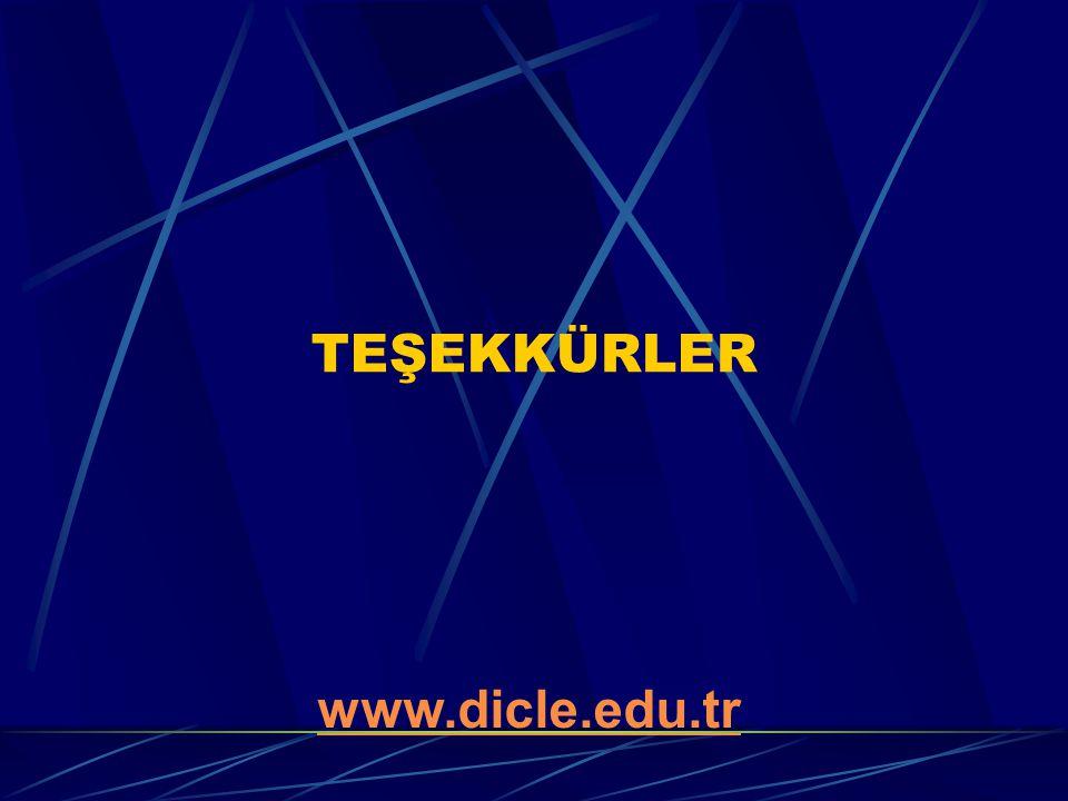 TEŞEKKÜRLER www.dicle.edu.tr