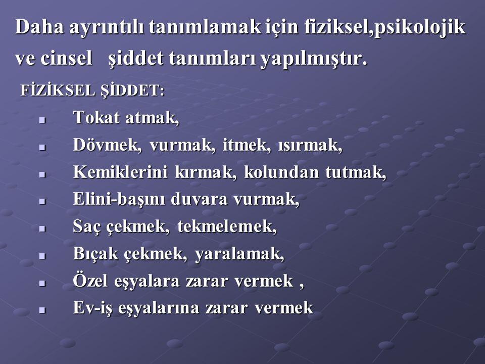Türkiye' de kadına yönelik şiddet; İlk çalışma PİAR tarafından 1988' de yapılmıştır.