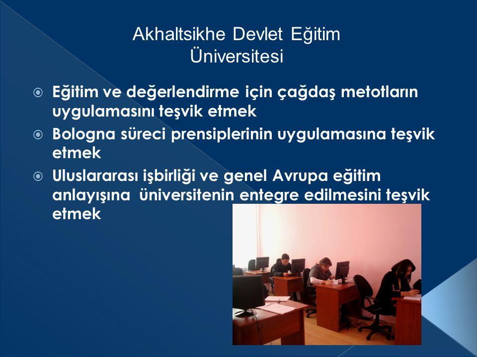 Gürcistan'da yüksek eğitim Bologna sistemindeki gibi 3 kademelidir:  I.