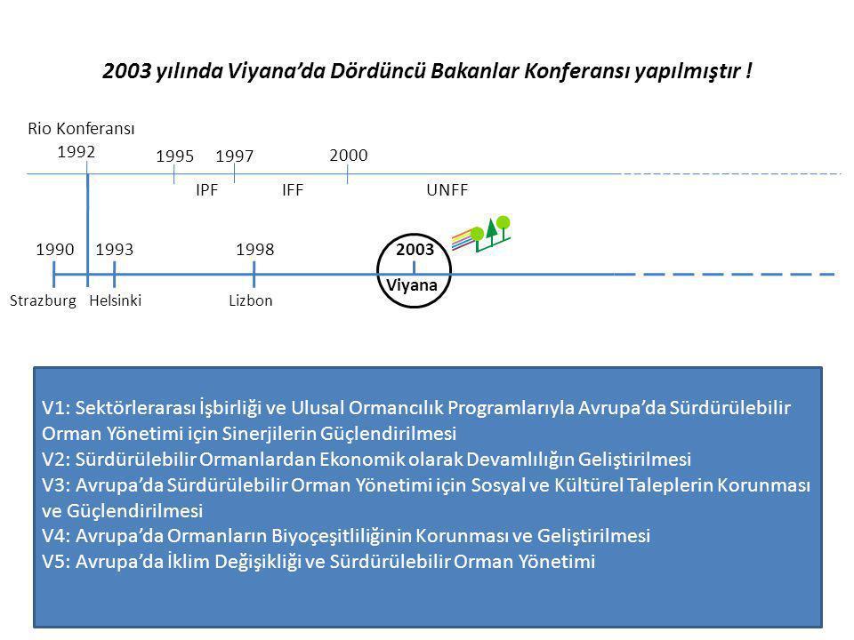 2003 yılında Viyana'da Dördüncü Bakanlar Konferansı yapılmıştır ! Rio Konferansı 1992 1995 IPF 1997 2000 IFFUNFF 1993199019982003 Strazburg HelsinkiLi
