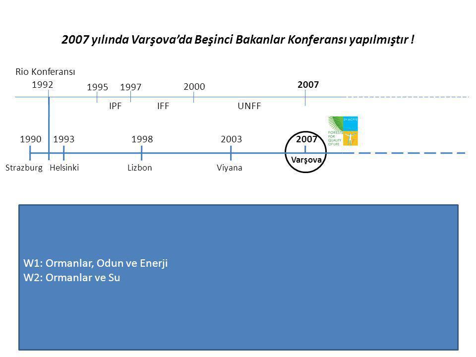 2007 yılında Varşova'da Beşinci Bakanlar Konferansı yapılmıştır ! Rio Konferansı 1992 1995 IPF 1997 2000 IFF 2007 UNFF 19931990199820032007 Strazburg