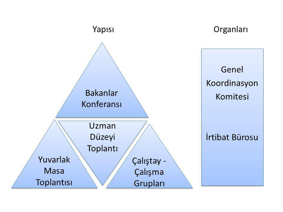Yapısı Genel Koordinasyon Komitesi İrtibat Bürosu Genel Koordinasyon Komitesi İrtibat Bürosu Bakanlar Konferansı Çalıştay - Çalışma Grupları Yuvarlak