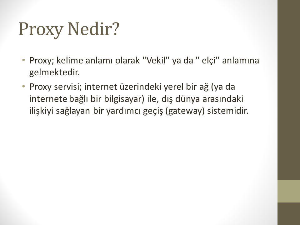 Proxy Nedir? Proxy; kelime anlamı olarak