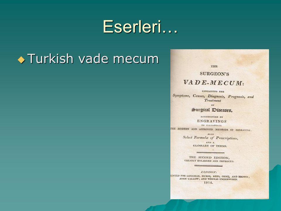 Eserleri…  Turkish vade mecum