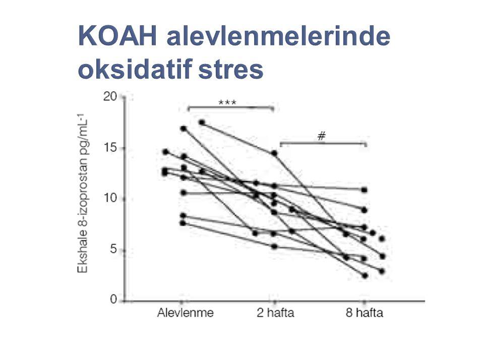 KOAH alevlenmelerinde oksidatif stres