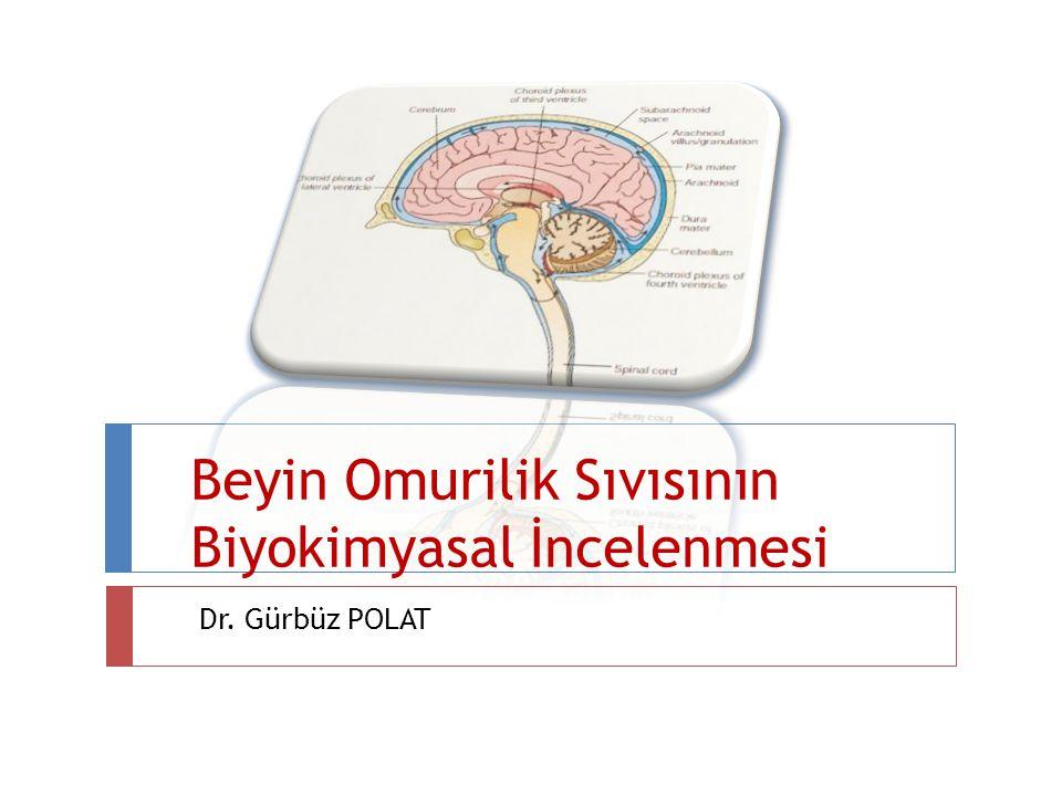 Beyin Omurilik Sıvısının Biyokimyasal İncelenmesi Dr. Gürbüz POLAT