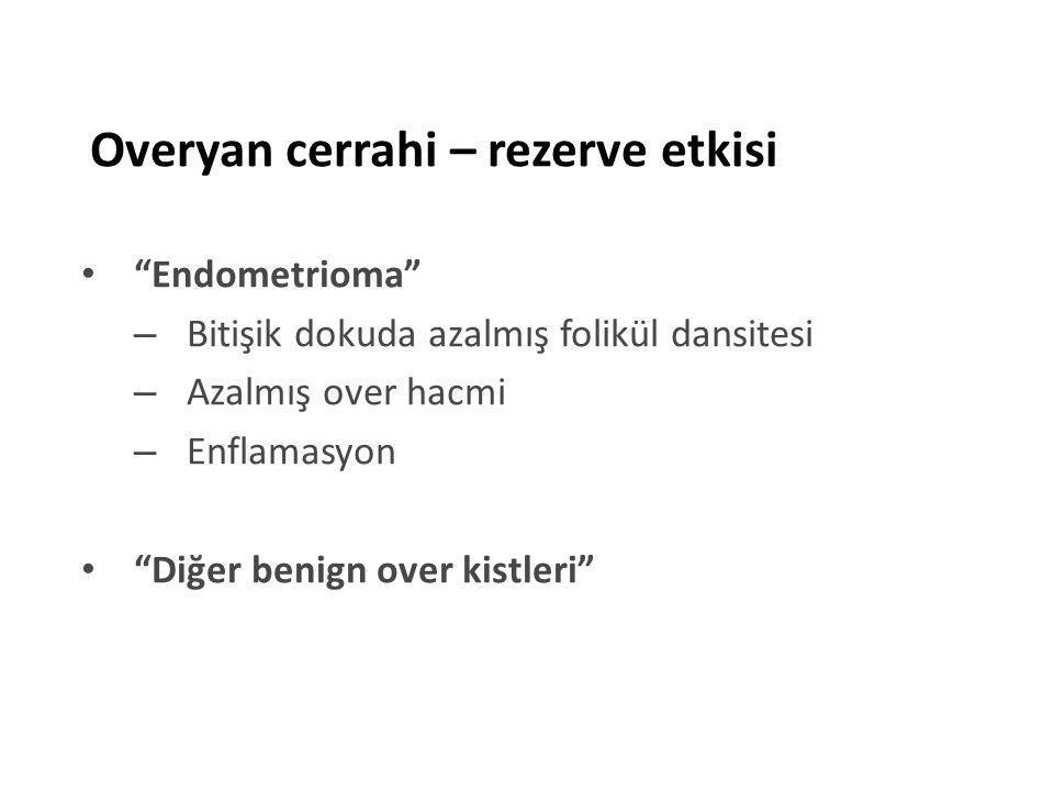 Etanol skleroterapi Yazbeck, RBM,2009 Reküren endometrioma: Etanol vs L/S kistektomi Komplikasyon yok