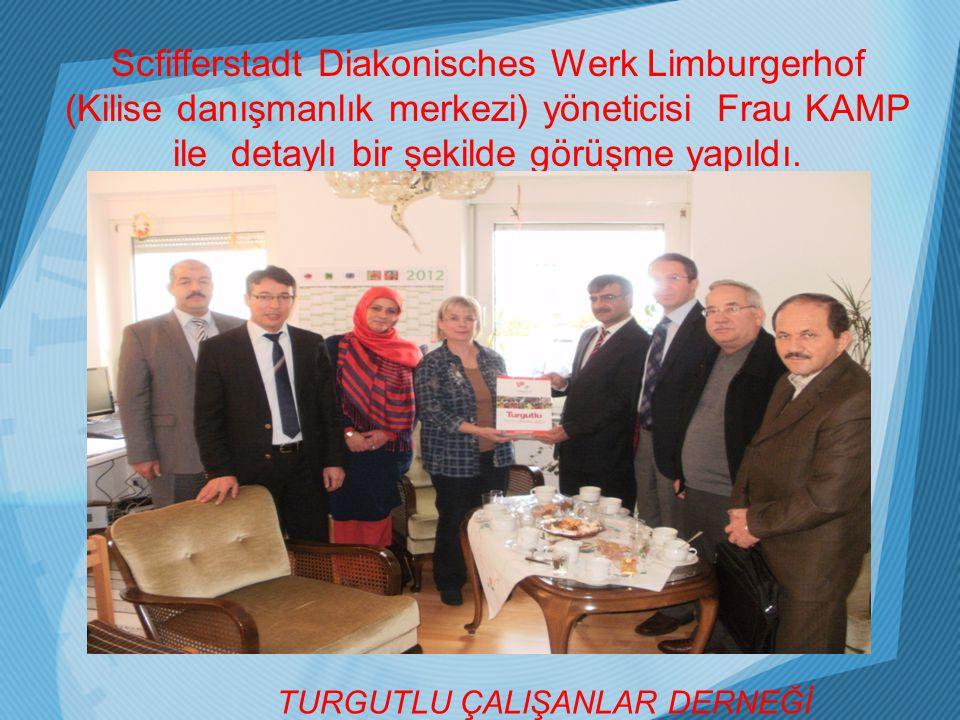 Scfifferstadt Diakonisches Werk Limburgerhof (Kilise danışmanlık merkezi) yöneticisi Frau KAMP ile detaylı bir şekilde görüşme yapıldı.