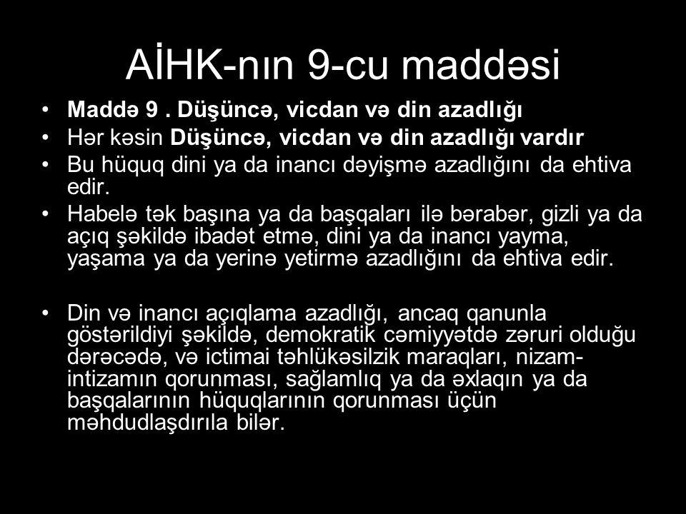 AİHK-nın 9-cu maddəsi Maddə 9.