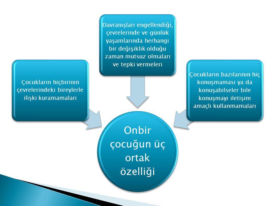 Dil ve iletişim becerilerini etkilemektedir Sosyal becerileri etkilemektedir Bilişsel becerileri ile davranışlarını etkilemektedir OTİZM