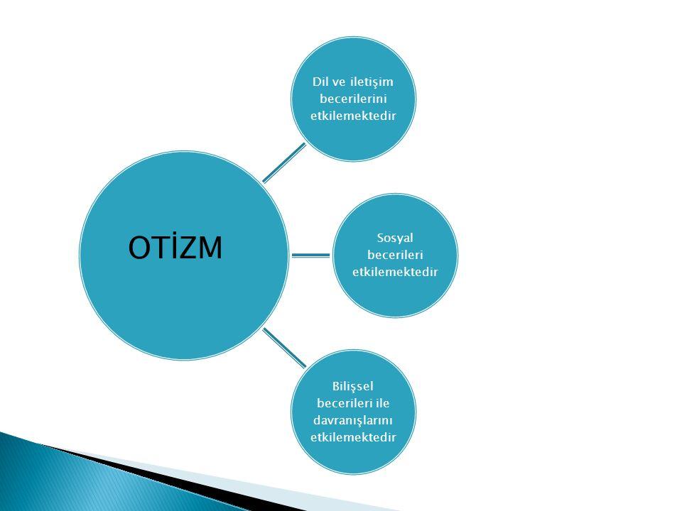  Otizm Spektrum Bozukluğu içerisinde yer alan otizm tanısı için 12 belirtiden en az altısına sahip olması ve bu belirtilerden en az ikisinin sosyal etkileşim sorunları kategorisinden, en az birer tanesinin diğer kategorilerden olması gerektiği ortaya konmuştur.