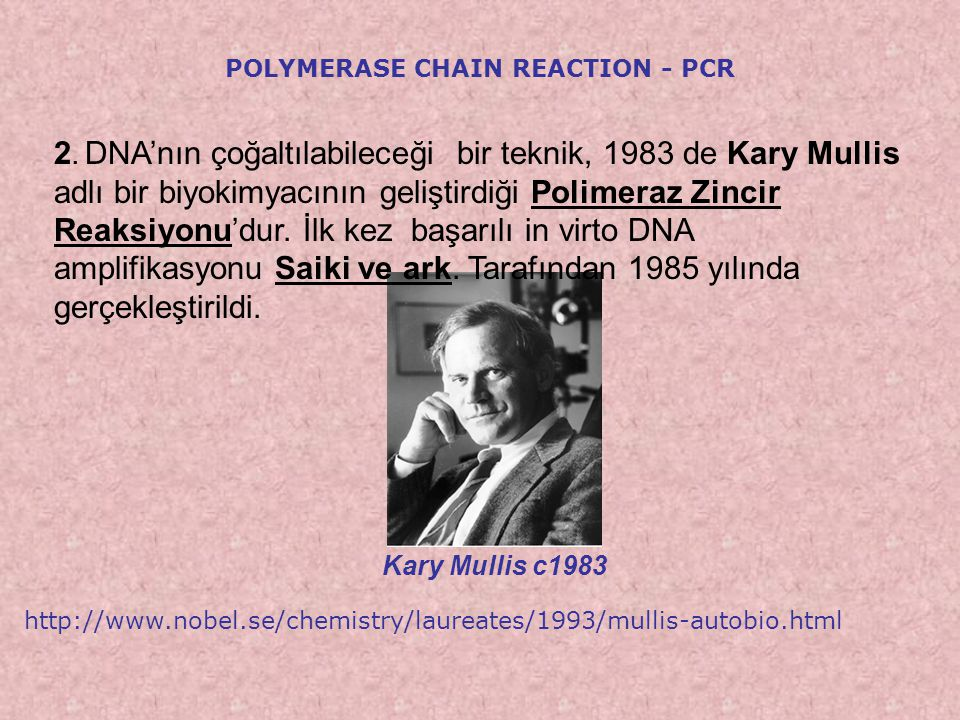 5'3' 5' 72° Polymerase Chain Reaction