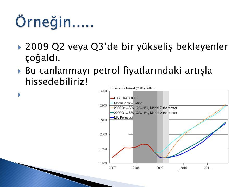  2009 Q2 veya Q3'de bir yükseliş bekleyenler çoğaldı.