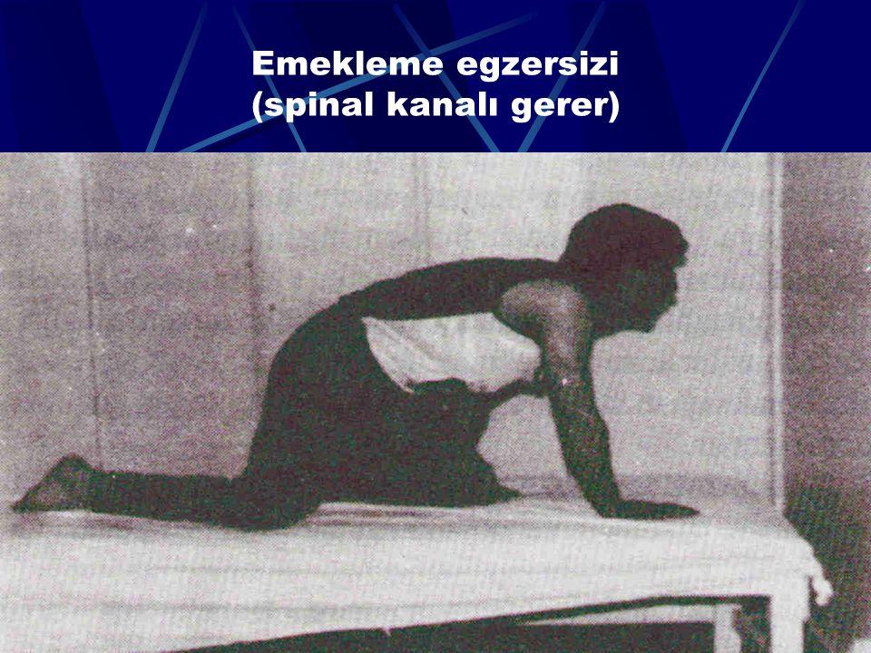 65 Skolyoz hastalarında spinal mekanikteki dengesizliğe bağlı olarak halsizlik sıktır Semptomları azaltmak için asimetrik lateral egzersizler yararlıdır Solunum kaslarının kuvvetlendirilmesi için göğüs kafesi dirençli egzersizleri uygulanır