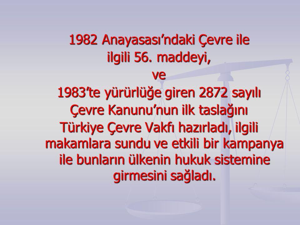 1982 Anayasası'ndaki Çevre ile ilgili 56.