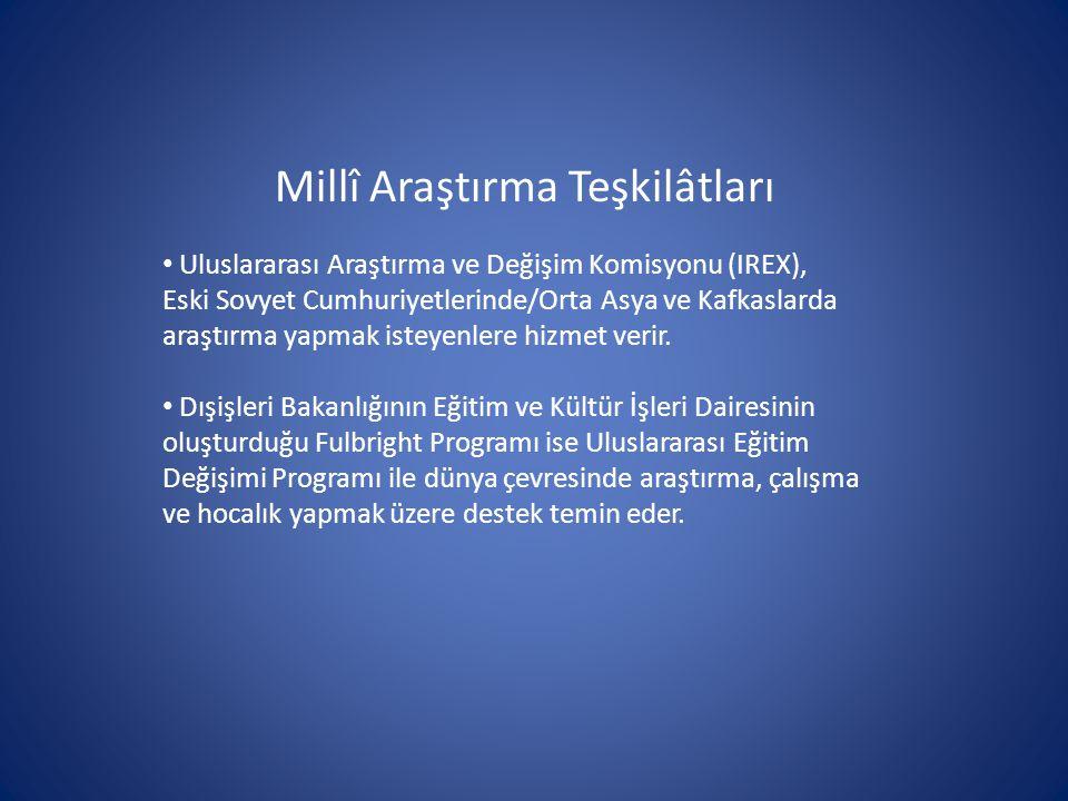 Millî Araştırma Teşkilâtları Uluslararası Araştırma ve Değişim Komisyonu (IREX), Eski Sovyet Cumhuriyetlerinde/Orta Asya ve Kafkaslarda araştırma yapm