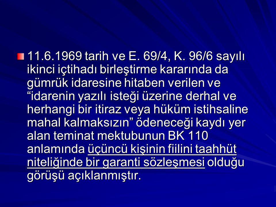 11.6.1969 tarih ve E.69/4, K.
