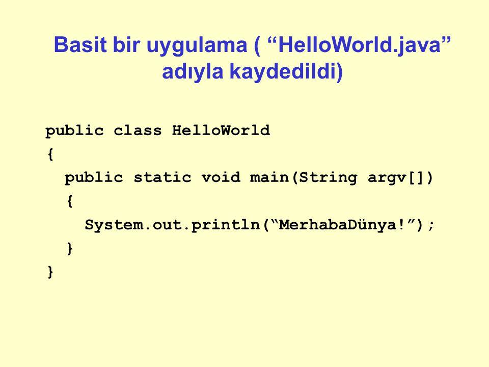 """Java Programlarının Yapısı Uygulamalar (""""standard"""" bilgisayar programları): –Bir ya da daha fazla Java kaynak dosyası oluşturun –Her bir kaynak dosyas"""