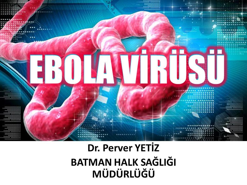 EBOLA VİRÜS HASTALIĞI (EVH) Ebola Virüs Hastalığı (EVH); Ebola virüsünün sebep olduğu, yüksek mortalitenin görüldüğü, akut başlangıçlı, yüksek ateş, gastrointestinal semptomlar ve kanamayla seyredebilen bir hastalıktır.