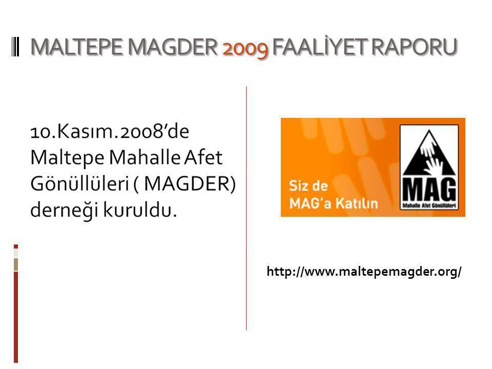 MALTEPE MAGDER 2009 FAALİYET RAPORU http://www.maltepemagder.org/