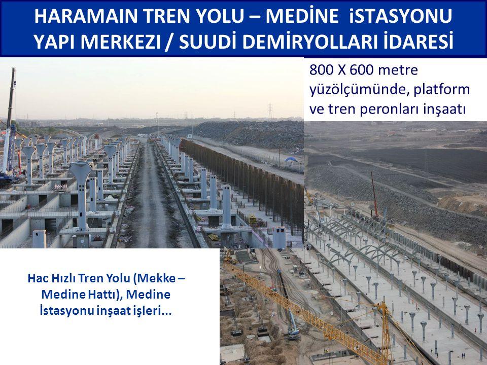 Hac Hızlı Tren Yolu (Mekke – Medine Hattı), Medine İstasyonu inşaat işleri... HARAMAIN TREN YOLU – MEDİNE iSTASYONU YAPI MERKEZI / SUUDİ DEMİRYOLLARI