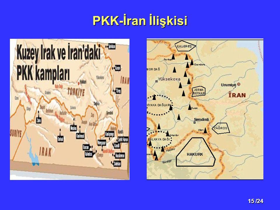 15 /24 PKK-İran İlişkisi Kelareş ve Makuda kampları,