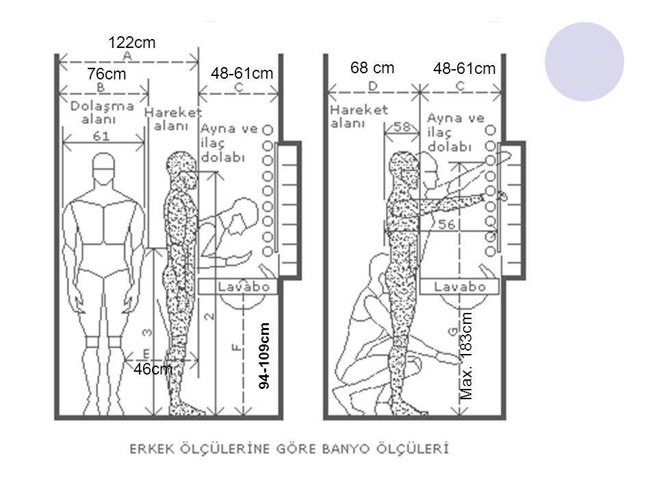 94-109cm 46cm Max. 183cm 122cm 76cm 48-61cm 68 cm 48-61cm